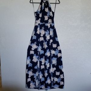 Jrs' Candie's blue Floral Maxi Dress Small EUC